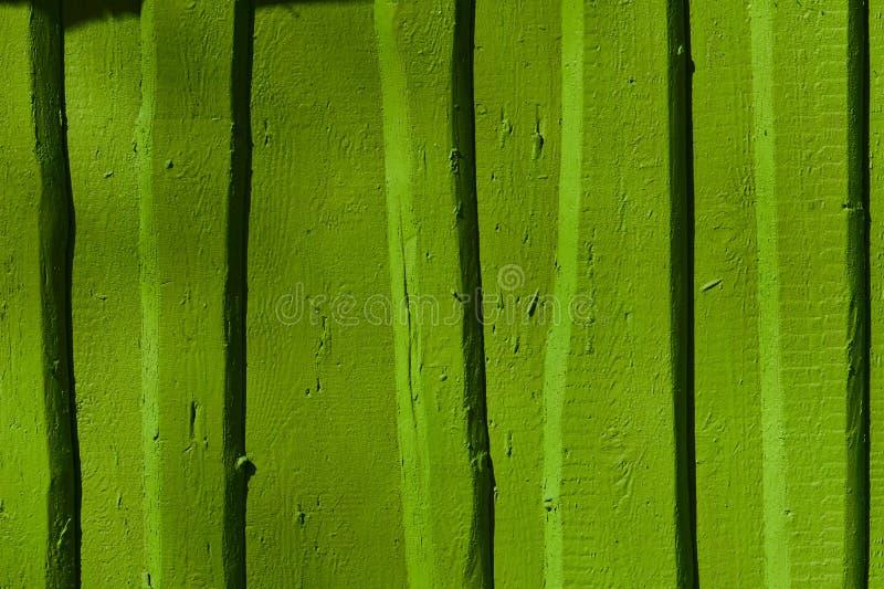 Groen houten paneel op een omheining royalty-vrije stock foto's