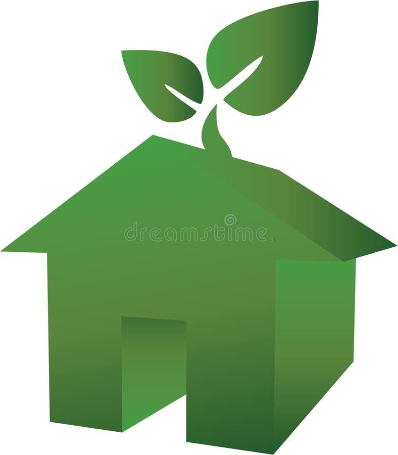 Groen huis royalty-vrije illustratie