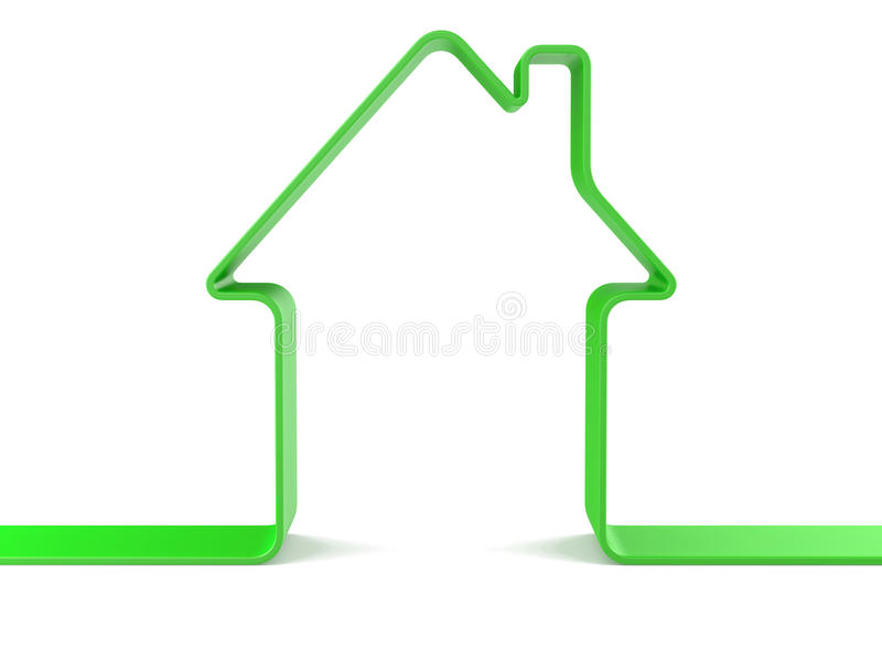 Groen huis stock foto