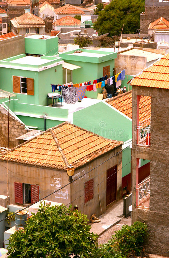 Groen huis stock fotografie