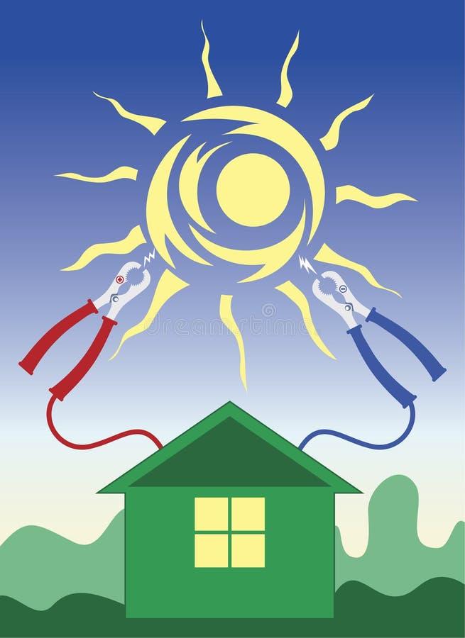 Groen huis stock illustratie