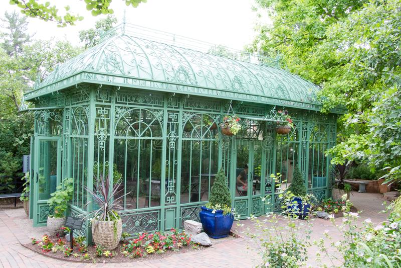 Groen huis Denver Botanical Gardens stock fotografie
