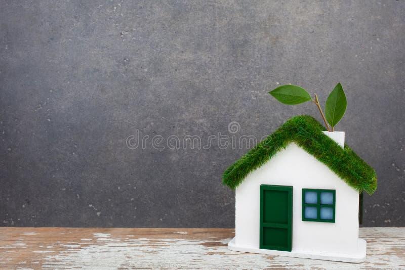 Groen huisconcept stock afbeeldingen