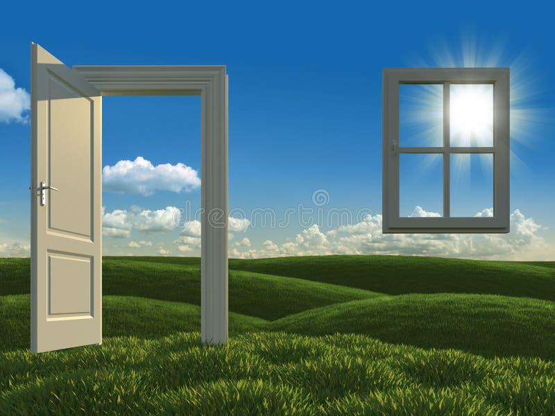 Groen huisconcept stock illustratie