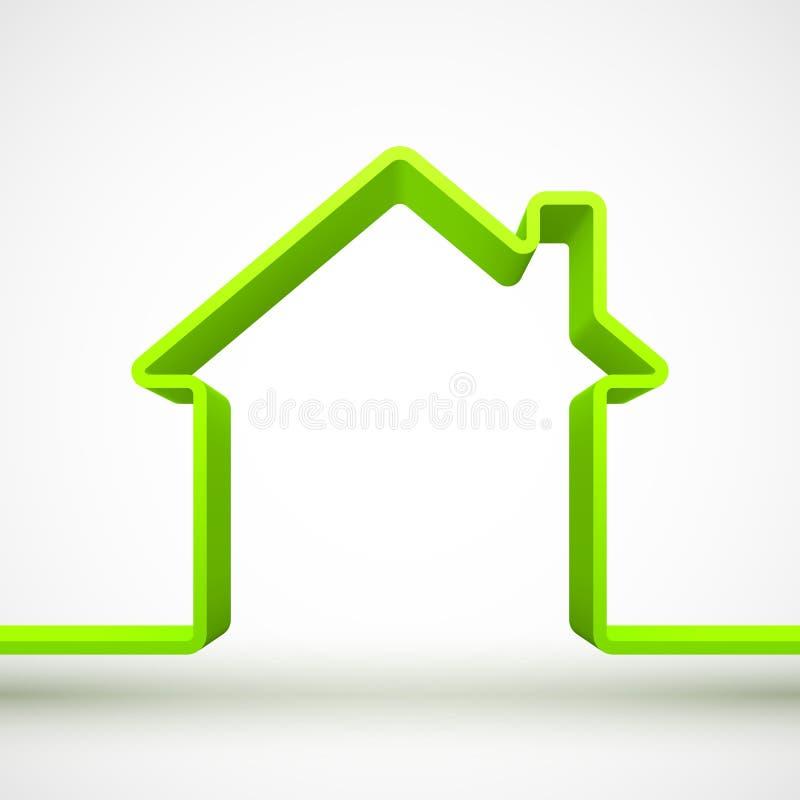 Groen huisoverzicht royalty-vrije illustratie