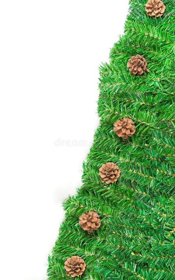 Groen kader voor geïsoleerded Kerstmis royalty-vrije stock afbeelding