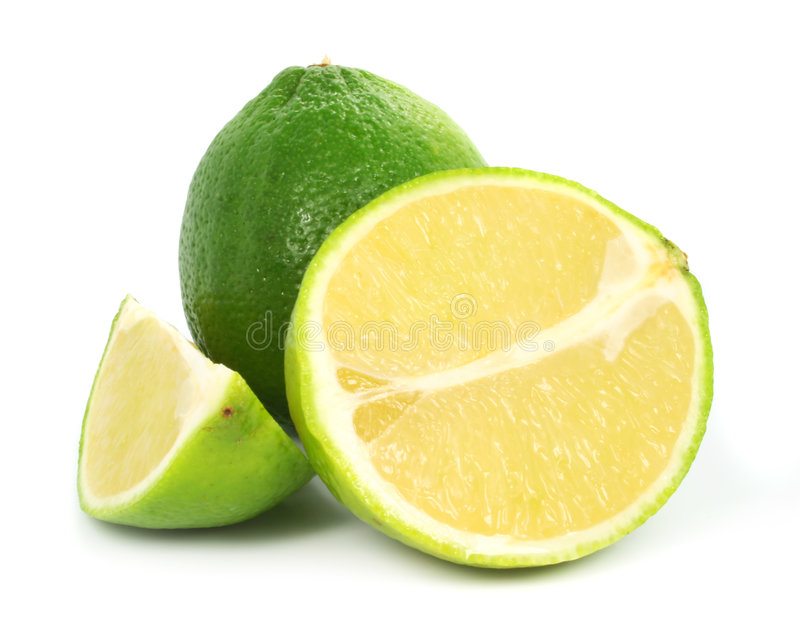 Groen kalk exotisch fruit royalty-vrije stock afbeeldingen