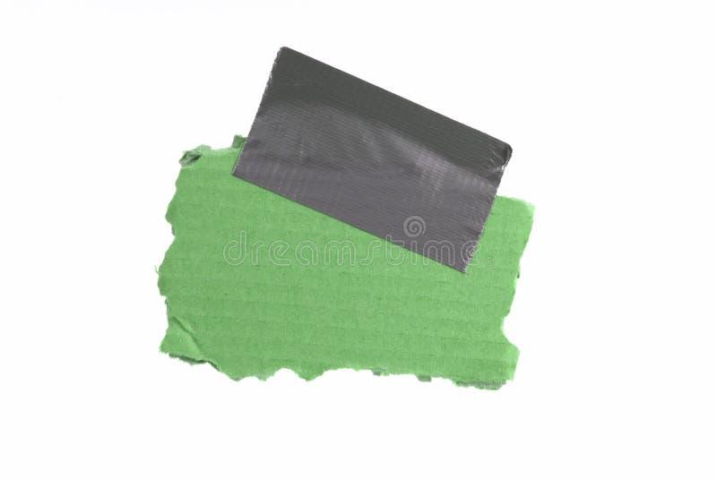 Groen karton met band royalty-vrije stock fotografie