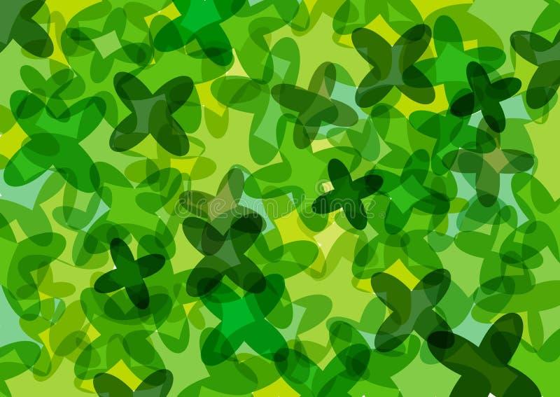 Groen klaversbehang vector illustratie