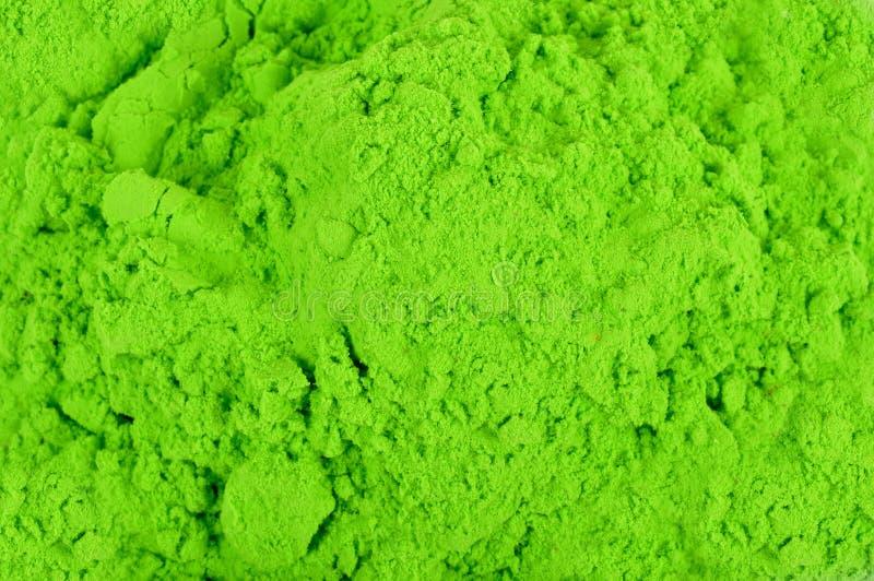 Groen kleurenpoeder stock foto