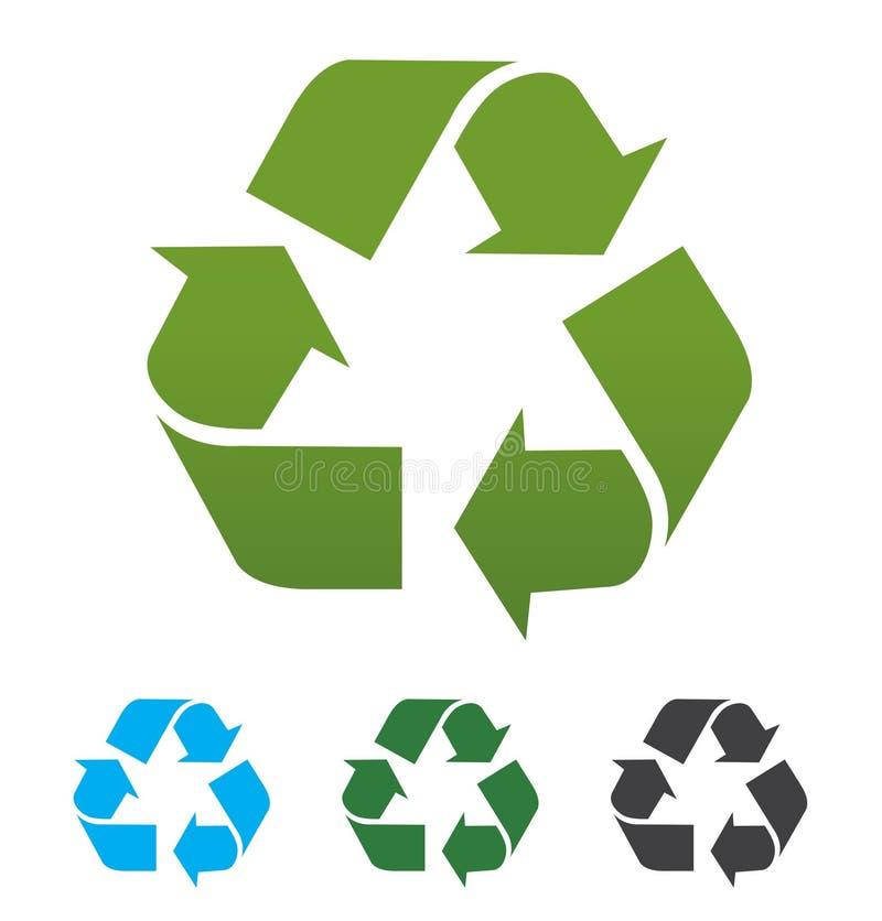 Groen kringlooppictogram stock afbeeldingen