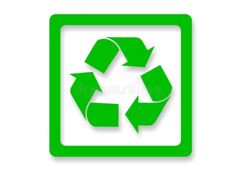 Groen kringloopteken stock afbeeldingen