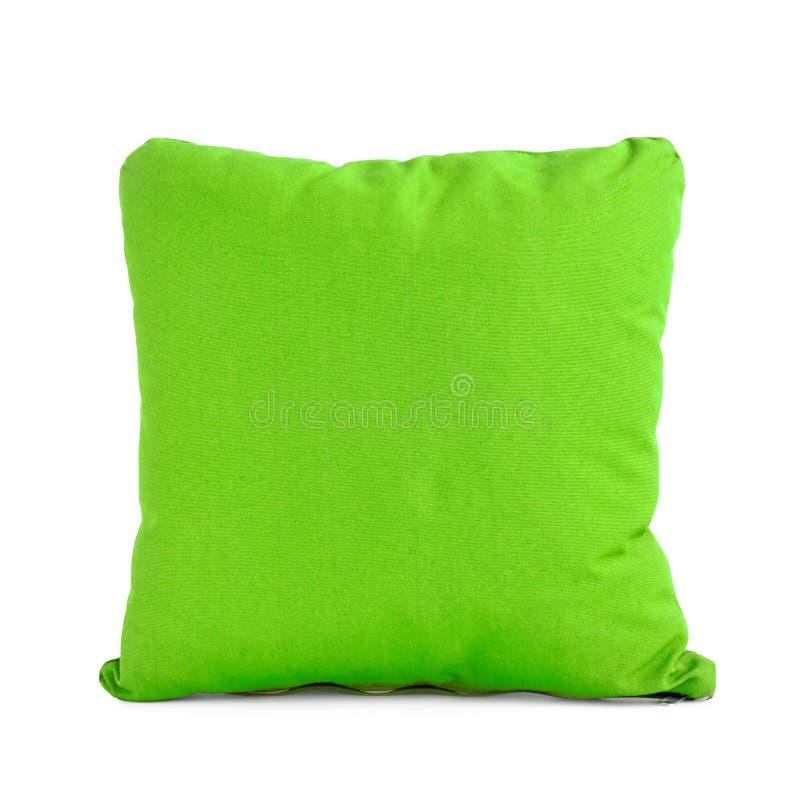 Groen kussen op witte achtergrond royalty-vrije stock afbeelding