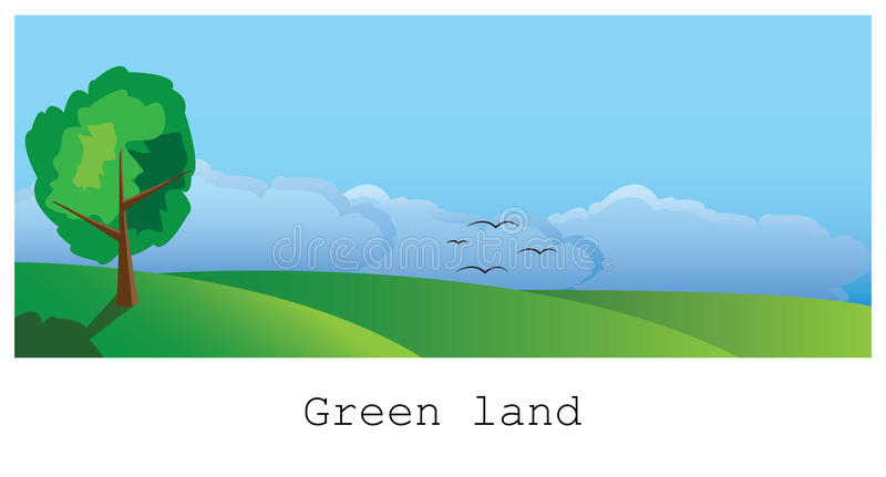 Groen land stock illustratie