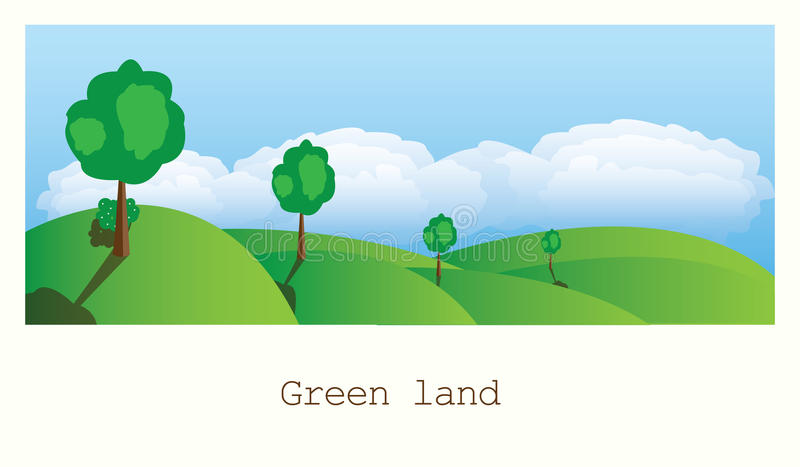 Groen land vector illustratie