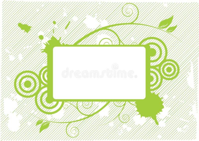 Groen leeg bloemenontwerp royalty-vrije illustratie
