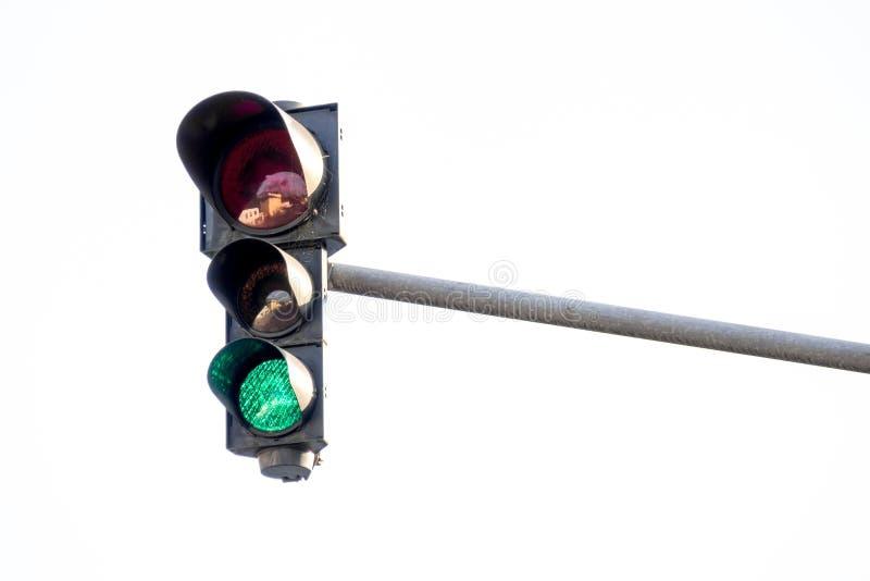 Groen licht stock foto's