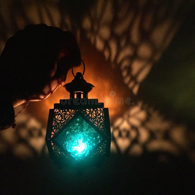 Groen lichtlantaarn royalty-vrije stock afbeeldingen
