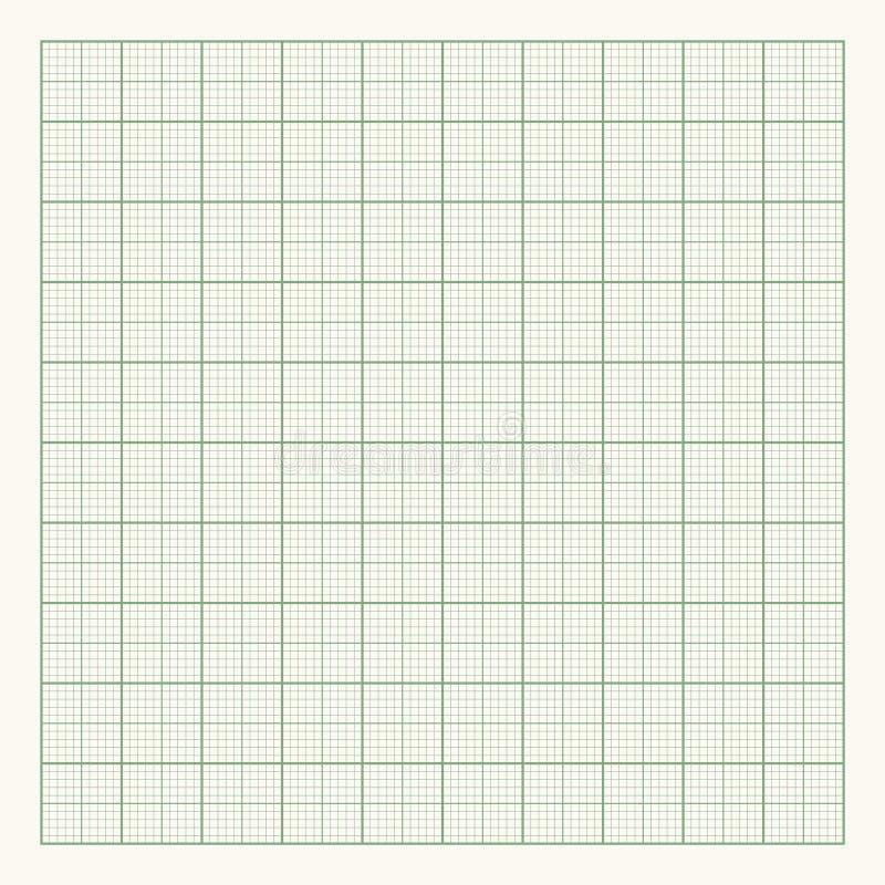 Groen millimeterpapier op lichte achtergrond vector illustratie