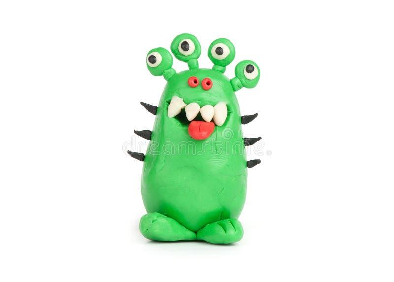 Groen Monster van plasticine royalty-vrije stock foto