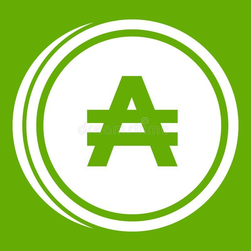 Groen muntstuk zuidelijk pictogram stock illustratie