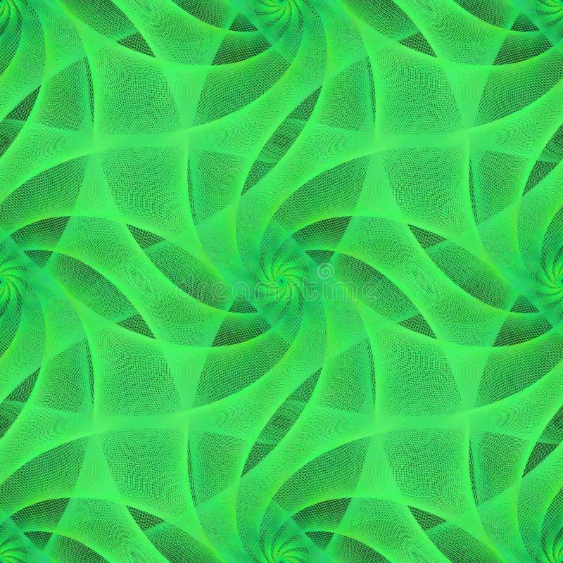 Groen naadloos fractal sluierpatroon vector illustratie