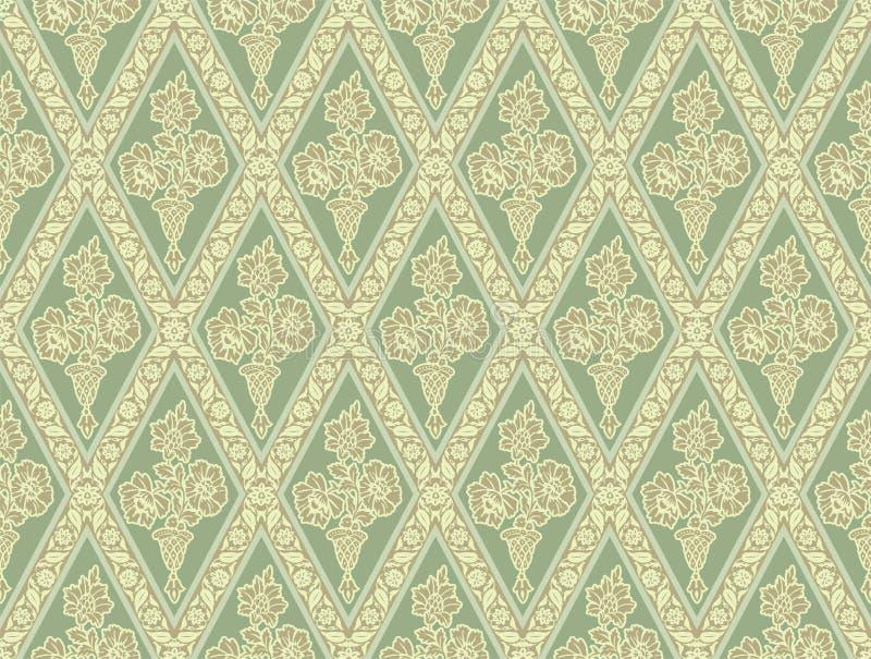 Groen naadloos patroon vector illustratie