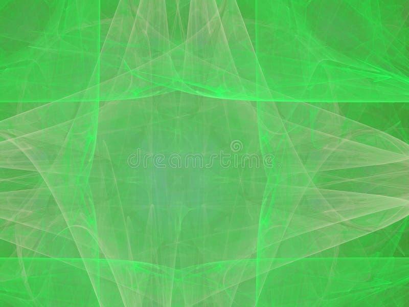 Groen neon stock illustratie