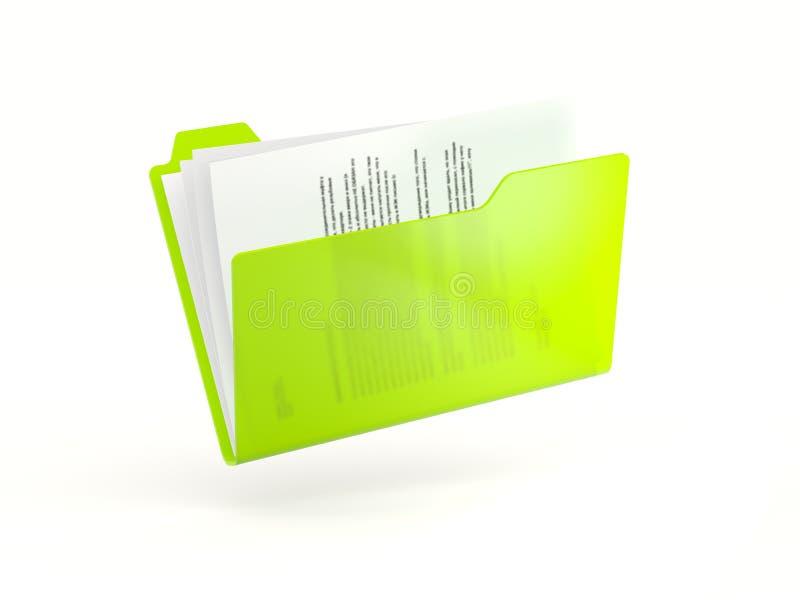 Groen omslagpictogram royalty-vrije illustratie