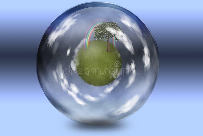 Groen onderglas stock illustratie