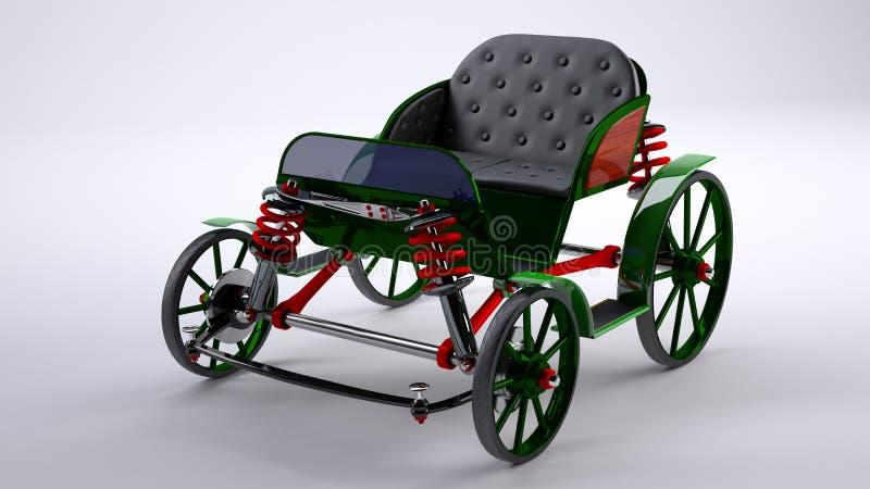 Groen onwerkelijk paardvervoer stock foto