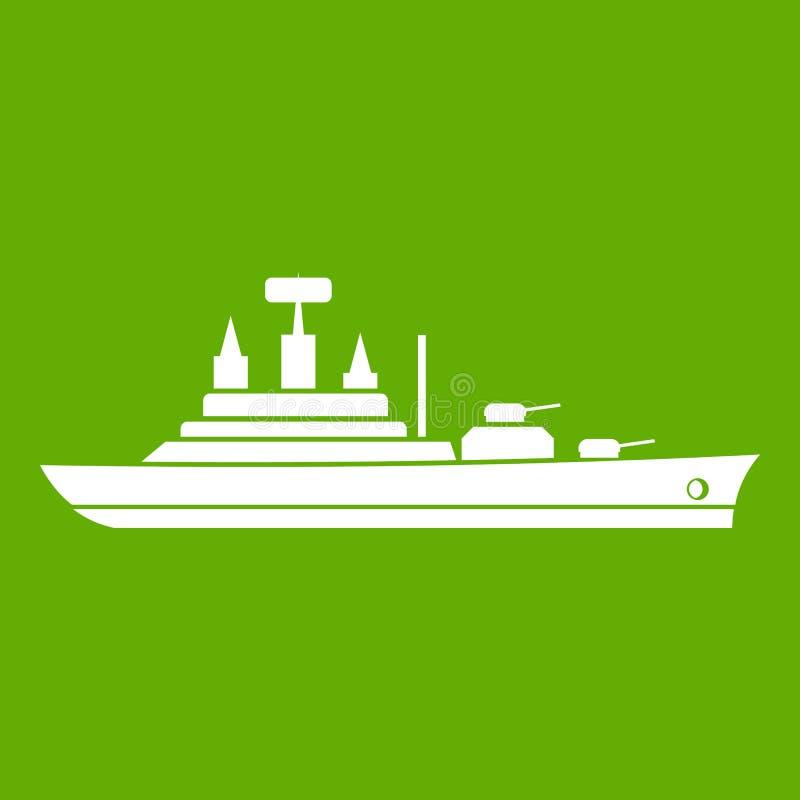 Download Groen Oorlogsschippictogram Vector Illustratie - Illustratie bestaande uit boot, groen: 107708116
