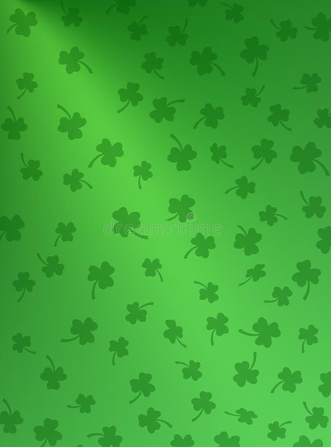 Groen op Groene Klavers vector illustratie
