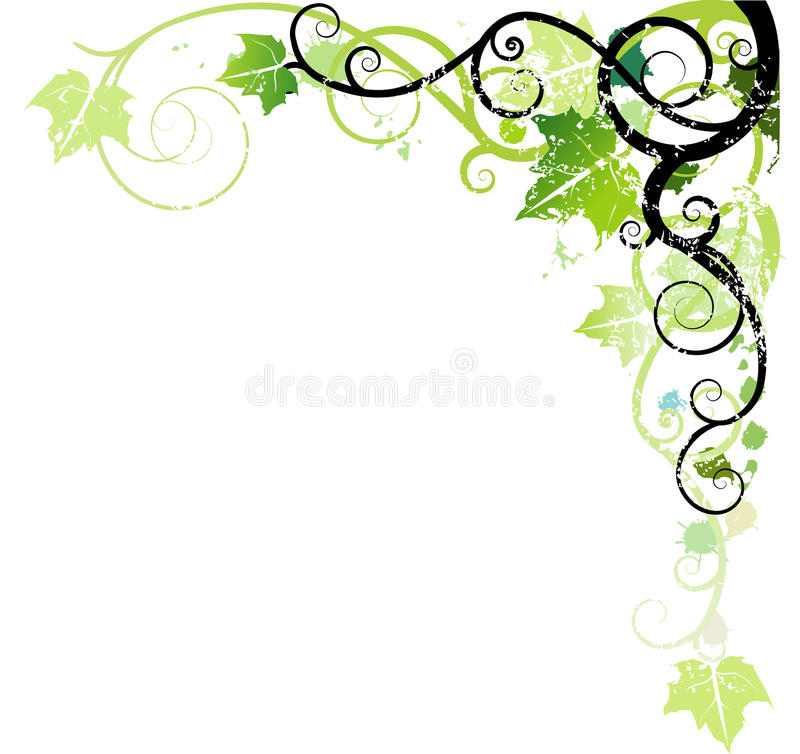 Groen ornament stock illustratie