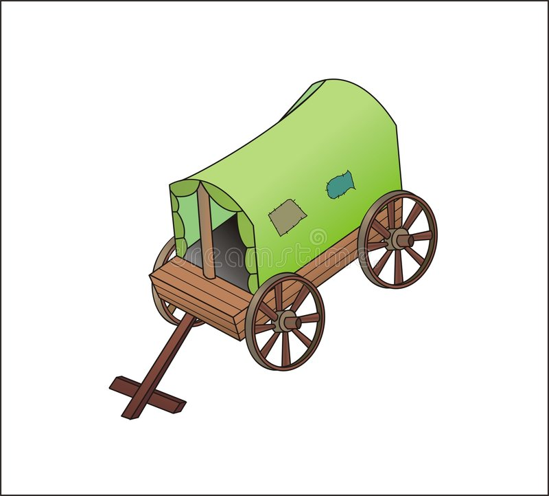 Groen oud vervoer royalty-vrije stock foto's