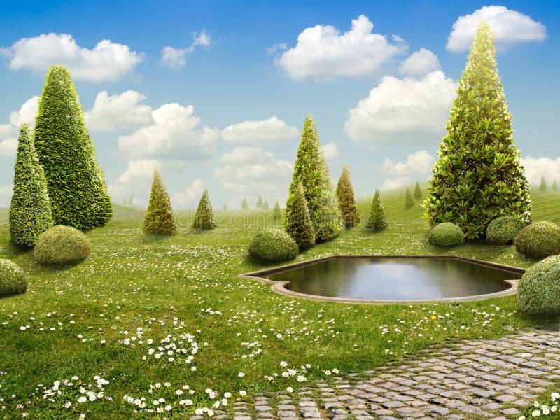 Groen Park royalty-vrije stock afbeelding