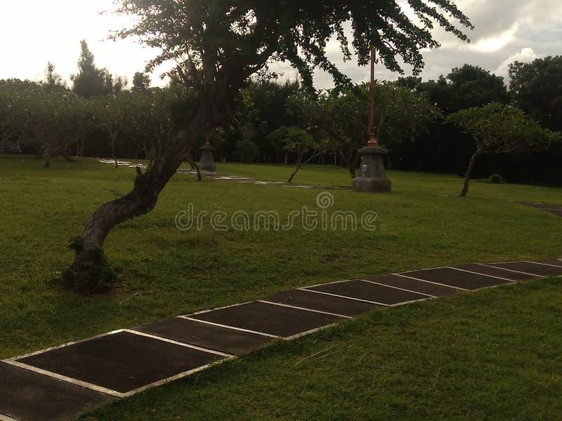 Groen park Bali stock afbeelding
