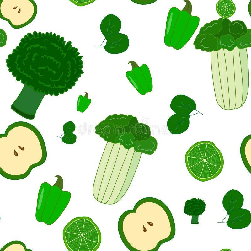 Groen patroon stock illustratie