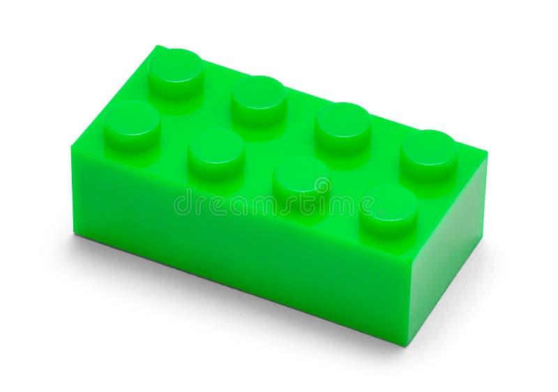 Groen Plastic Blok stock afbeeldingen