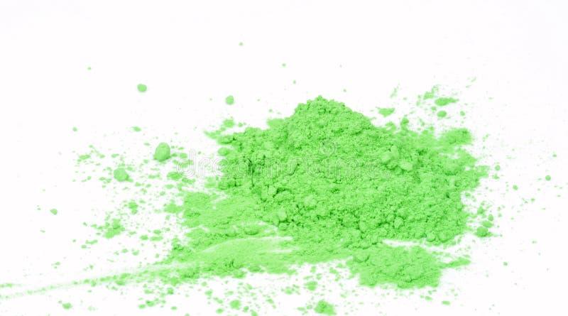 Groen poeder stock foto's