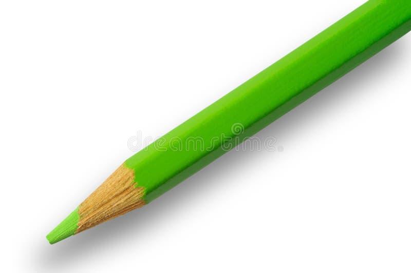 Groen potlood met het knippen van weg royalty-vrije stock foto