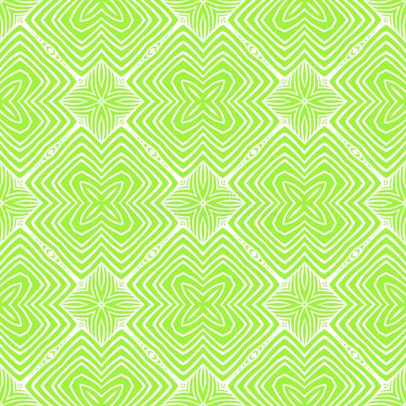 Groen psychedelisch de jaren '60patroon van de lente stock illustratie