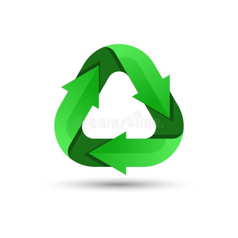 Groen recyclingsembleem stock illustratie