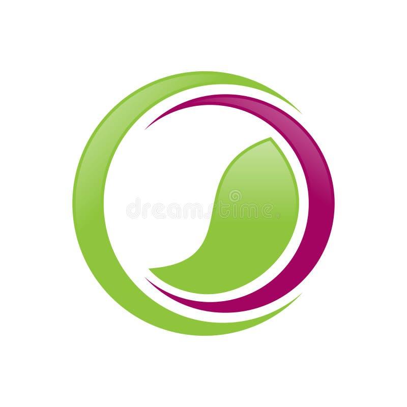 Groen Saldo Wellness Crescent Symbol Design vector illustratie