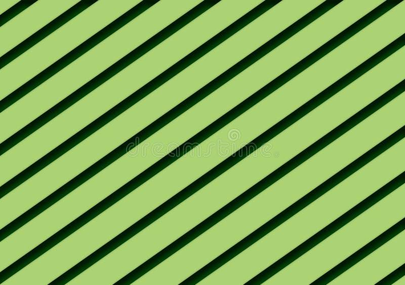 Groen schaduwen diagonaal gestreept ontwerp als achtergrond vector illustratie