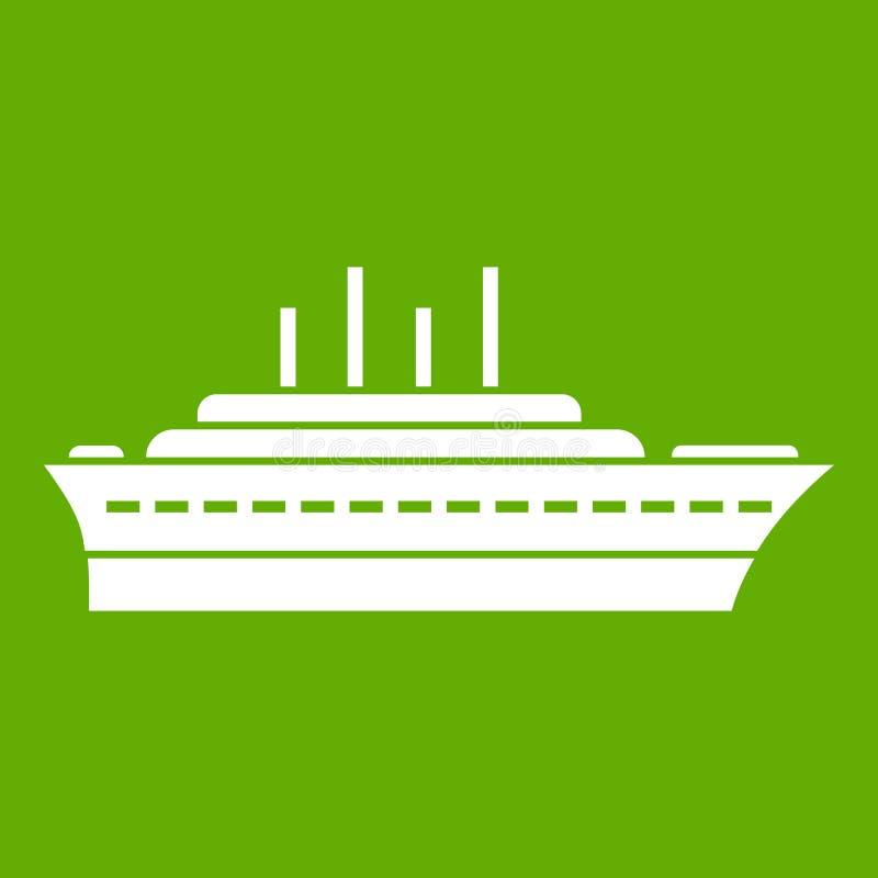 Download Groen schippictogram vector illustratie. Illustratie bestaande uit marine - 107707550