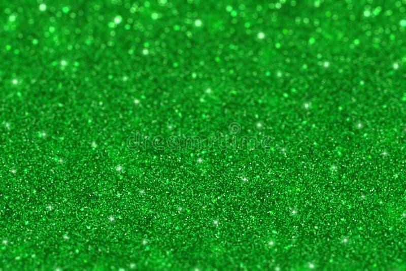 Groen schitter defocused achtergrond royalty-vrije stock foto's