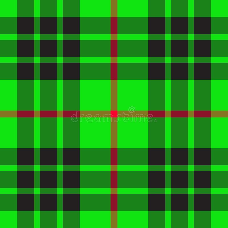 Groen Schots patroon vector illustratie