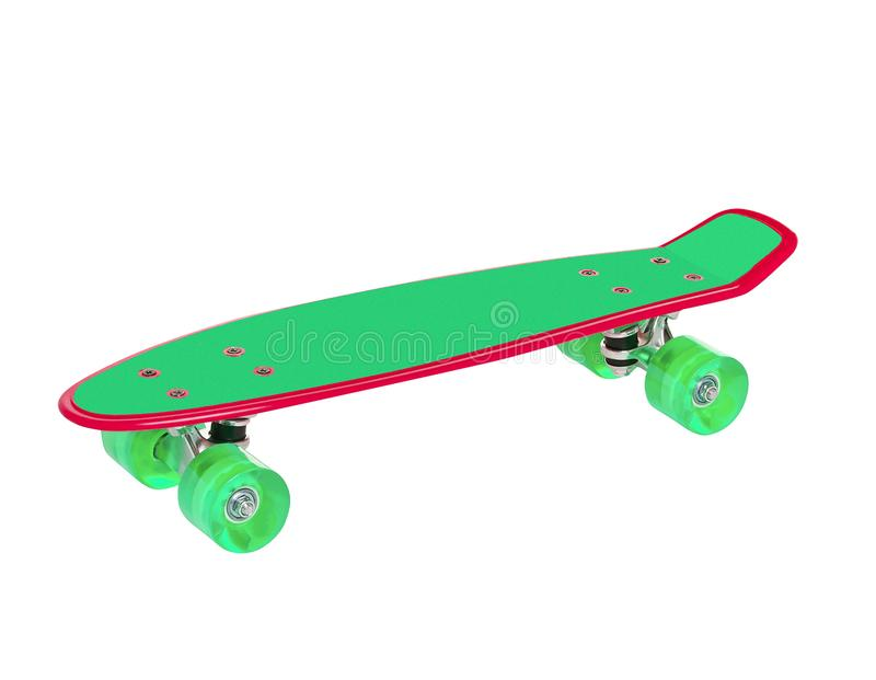 Groen skateboard royalty-vrije stock foto