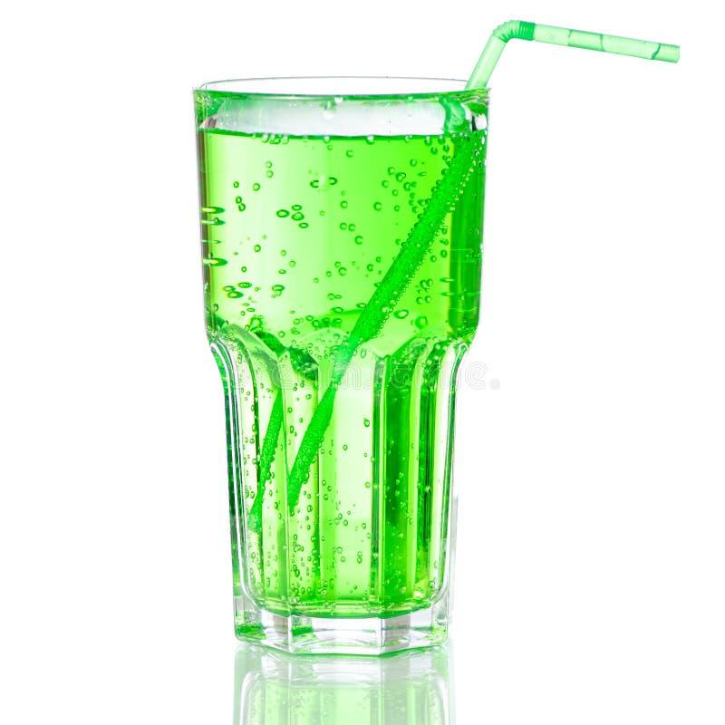 Groen sodawater stock afbeelding
